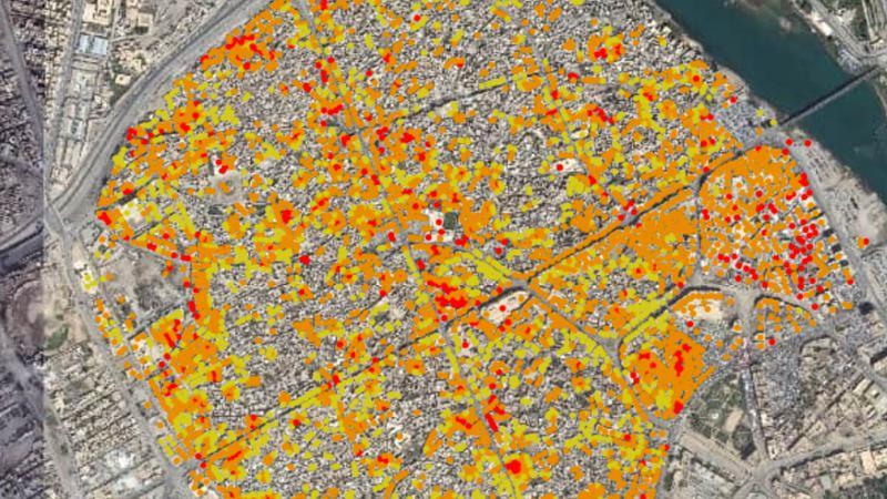 CARTE. Irak : visualisez l'ampleur de la destruction de la vieille ville de Mossoul