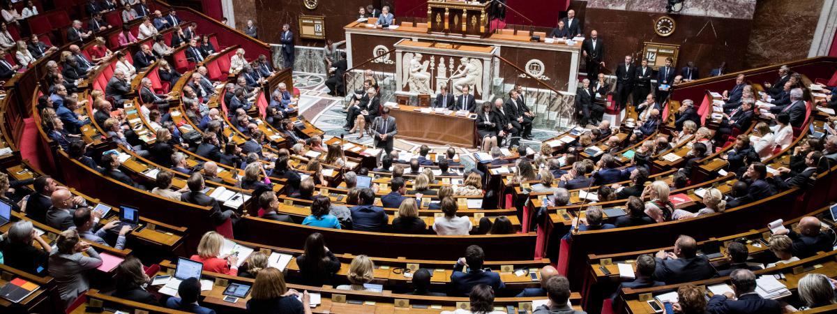 Les députés lors de la séance de questions au gouvernement, le 12 juillet 2017 à l\'Assemblée nationale.