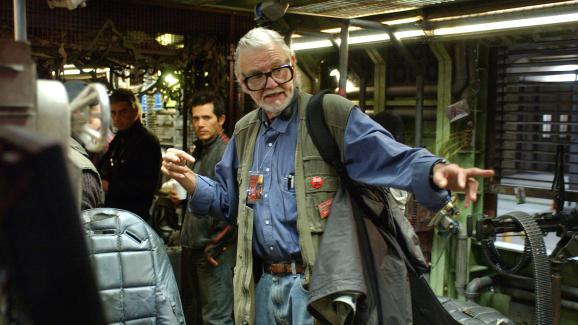 Le réalisateur George A. Romero sur le tournage de &quotLand of the Dead&quot.