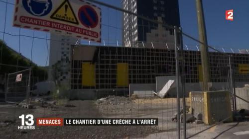Échirolles : le chantier d'une crèche arrêté par des jeunes qui réclament du travail