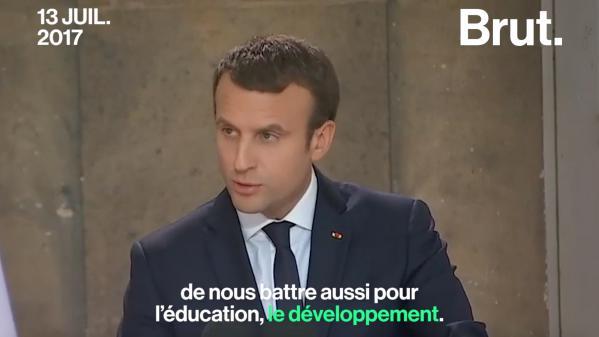 La volte-face de Macron concernant l'aide au développement