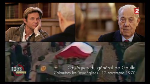 """VIDEO. """"13h15"""". Charles Pasqua : """"De Gaulle était Clovis, Charlemagne, Jeanne d'Arc et Napoléon !"""""""