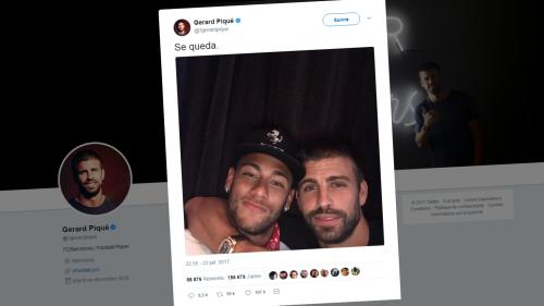 Foot : le Barcelonais Piqué assure que Neymar n'ira pas à Paris, les internautes s'en donnent à cœur joie