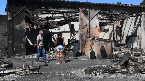 EN IMAGES. Incendies : dans le Sud-Est, lesflammes laissent place à la désolation