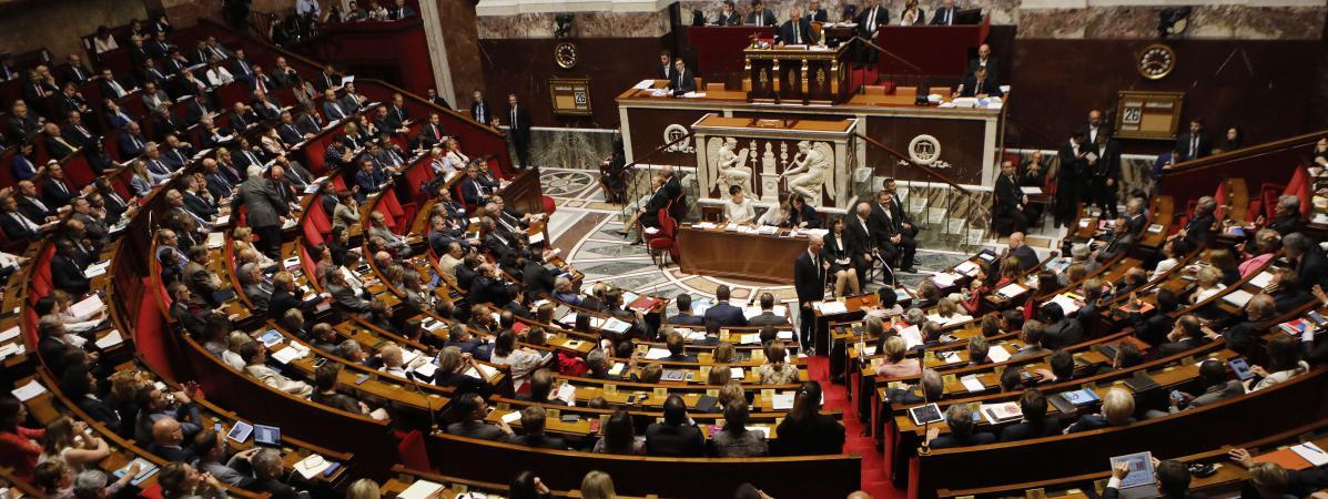 Les députés assistent à une séance de questions au gouvernement, le 26 juillet 2017, à l\'Assemblée nationale, à Paris.