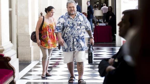 Moetai Brotherson arrive à l\'Assemblée nationale, le 20 juin 2017, à Paris.