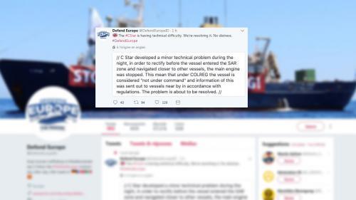 """Le bateau d'une ONG envoyé à la rescousse du navire anti-migrants """"C-Star"""""""