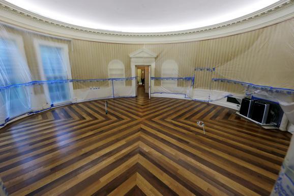 Une aile de la maison blanche subit de grands travaux de rénovation