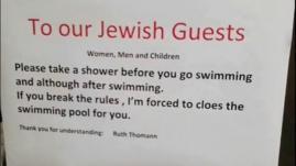 """Suisse : un hôtel demande à ses clients juifs """"de prendre une douche avant d'aller à la piscine"""""""