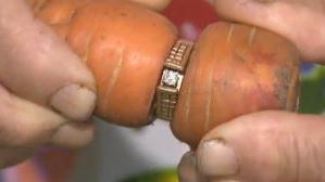 VIDEO. Canada : elle retrouve sa bague de fiançailles autour d'une carotte, 13 ans après l'avoir perdue dans son jardin