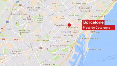CARTE. L'attentat de Barcelone a eu lieu sur les Ramblas, la plus grande avenue touristique de la ville