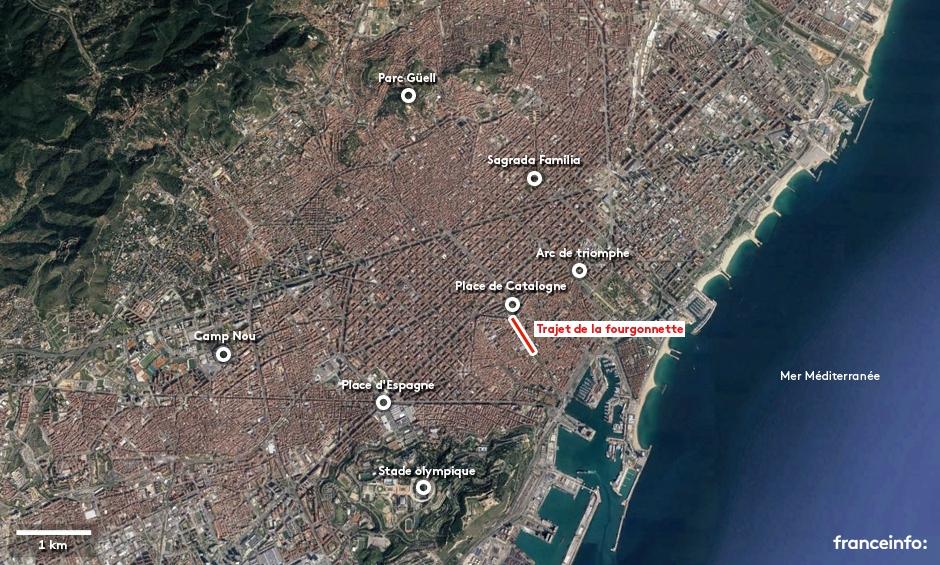 Carte Barcelone Place Despagne.Carte L Attentat De Barcelone A Eu Lieu Sur La Rambla La Plus