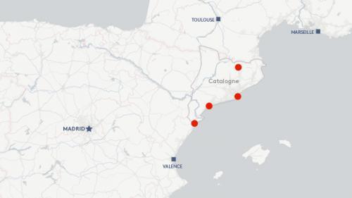 CARTE. Attentats en Catalogne : où ont eu lieu les attaques et les arrestations?