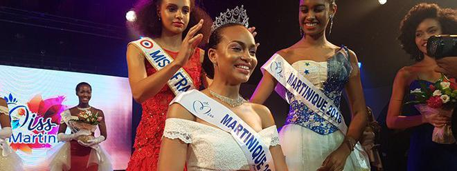 Miss Martinique 2017, Jade Voltigeur, le 21 juillet à Fort-de-France (Martinique).