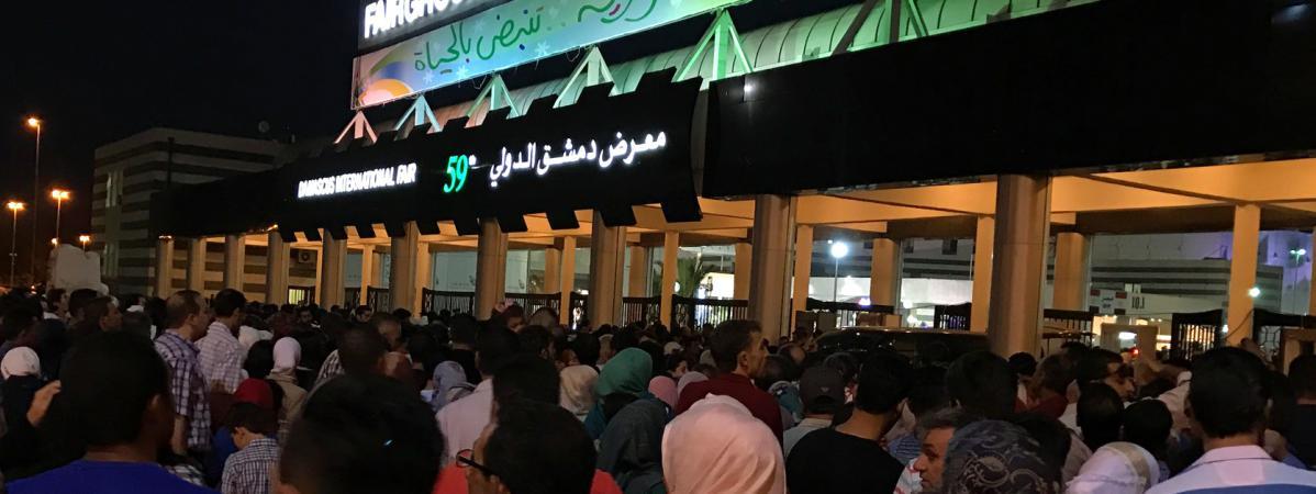 Syrie six morts dans la chute d 39 une roquette l 39 entr e de la foire de damas - Entree gratuite foire de lyon 2017 ...