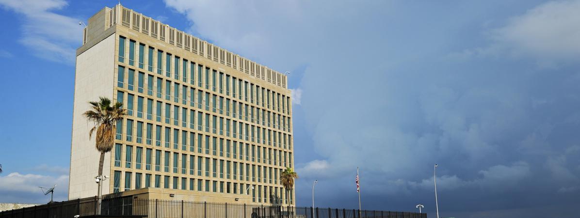 L\'ambassade américaine à Cuba, le 17 décembre 2015 à La Havane.