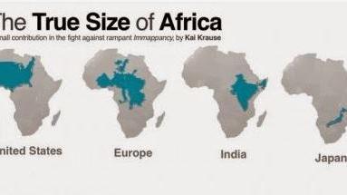 Carte De Lafrique Et Leurope.La Carte De L Afrique Comme Vous Ne L Avez Jamais Vue