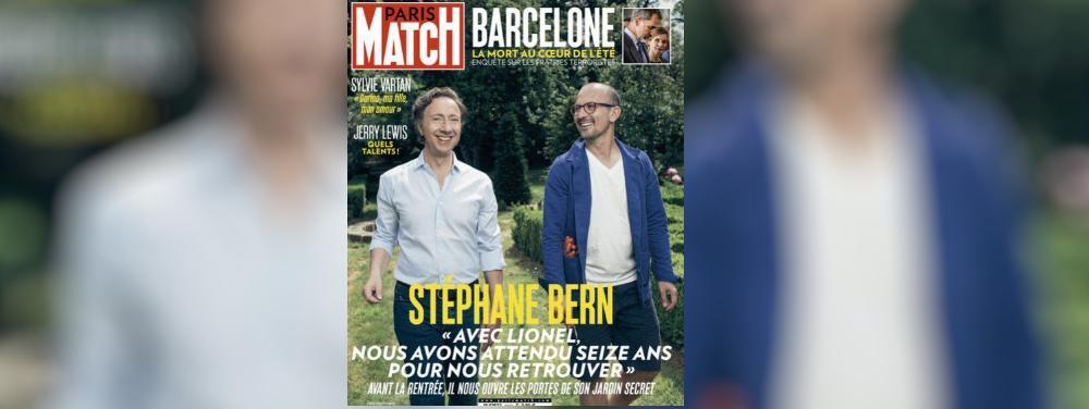 Pour la premi re fois paris match met un couple d - Stephane bern et son compagnon ...