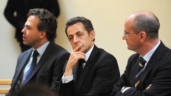 Jean-Michel Blanquer avec Nicolas Sarkozy et Luc Chatel, le 13 octobre 2009.
