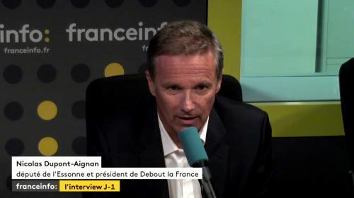 """L'interview J-1. """"Il faut reconstruire une alternative"""" au pouvoir d'Emmanuel Macron, assure Nicolas Dupont-Aignan"""