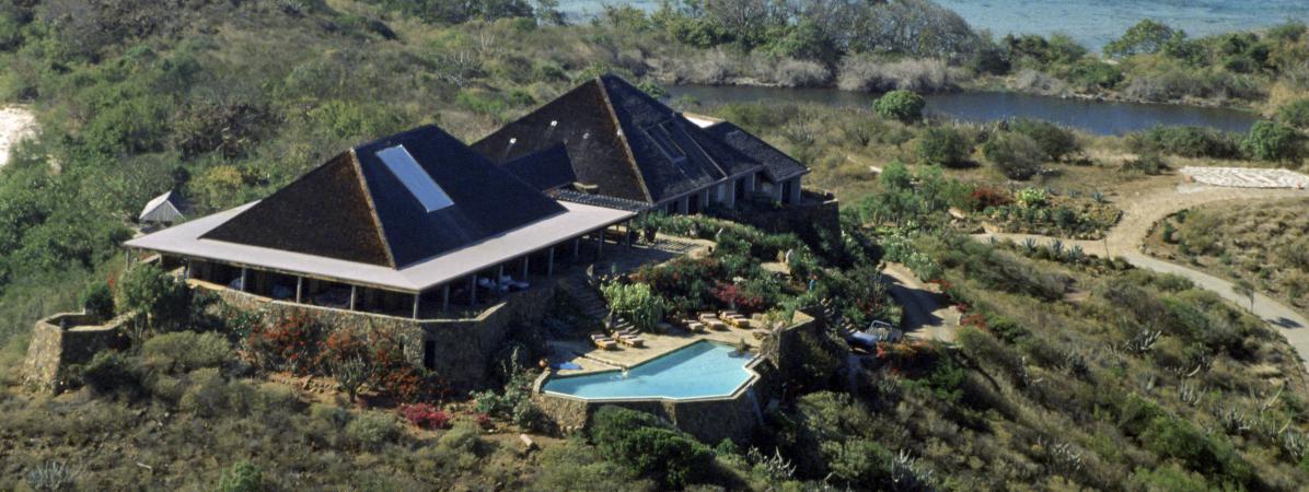 La villa de Richard Branson sur l\'île Necker, photographiée le 15 octobre 2015.