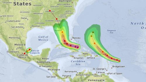 Irma, José, Katia... Quelles vont être les trajectoires des ouragans dans les jours à venir?
