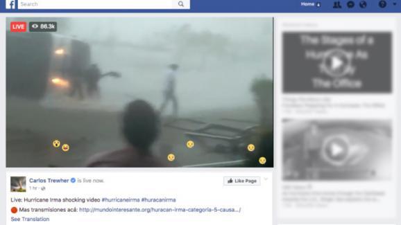 Un faux live sur Facebook a trompé des milliers de personnes mercredi soir