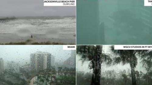 VIDEOS. L'ouragan Irma filmé en Floride par des webcams