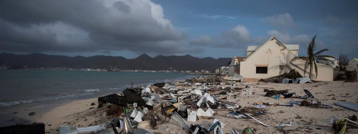 A Saint-Martin, une grande partie des bâtiments ont été dévastés par l\'ouragan Irma.