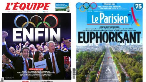 EN IMAGES. Les unes de la presse après l'attribution des Jeux olympiques à Paris