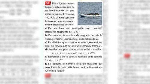 Exercice de maths sur les migrants : les éditions Nathan retirent et remboursent le manuel de terminale