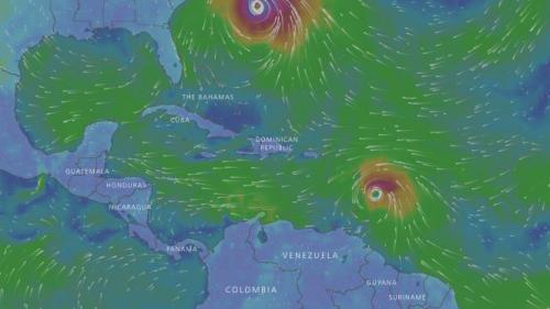 CARTE. Suivez en direct l'évolution de la trajectoire de l'ouragan Maria
