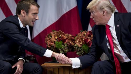 """VIDEO. Quand Macron et Trump mettent en scène leur """"bromance"""""""