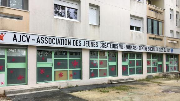 Le centre social AJCV à Vierzon (Cher), le 19 septembre 2017.