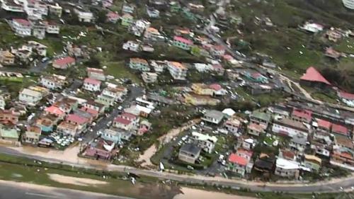 VIDEO. Ouragan Maria : lesimpressionnants dégâts sur l'île delaDominique vus du ciel