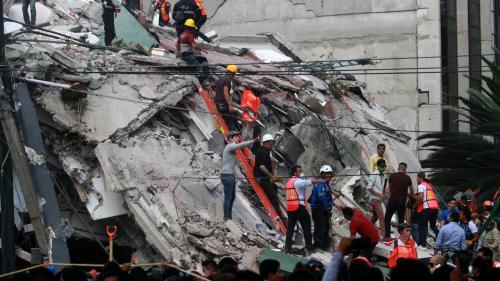 """Séisme au Mexique : """"Une minute qui avait l'air d'une éternité"""", témoigne un journaliste"""