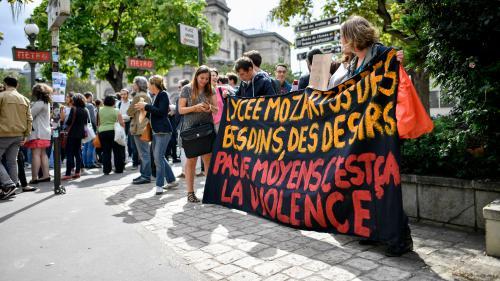 """""""Deux pions pour 1 300 élèves"""" : des lycées de Seine-Saint-Denis protestent contre la suppression des contrats aidés"""