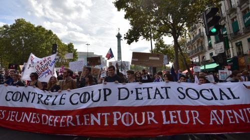 """DIRECT. Réforme du travail : La France insoumise dans la rue contre le """"coup d'Etat social"""" d'Emmanuel Macron"""