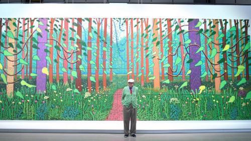 David Hockney, un peintre-star quasi-incognito en Normandie