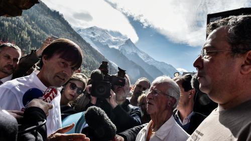 """VIDEO. Haute-Savoie : """"Je n'arrive pas avec une baguette magique"""" contre la pollution, affirme Nicolas Hulot"""