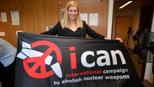 Le prix Nobel de la paix est remis à l'Ican, la Campagne internationale pour l'abolition des armes nucléaires