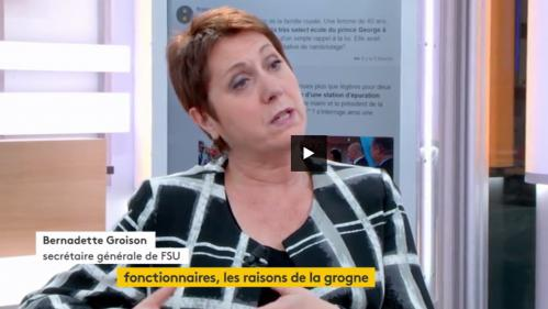 """VIDEO. Grève des fonctionnaires : la FSU souligne le """"ras-le-bol d'être trop souvent stigmatisé"""""""
