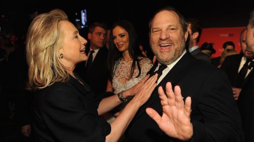 Le soutien d'Harvey Weinstein aux démocrates embarrasse Hillary Clinton et Barack Obama