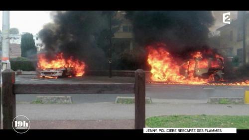 """VIDEO. """"19h le dimanche"""". """"La survie tient à un fil"""", témoigne une policière brûlée grièvement à Viry-Châtillon en 2016"""