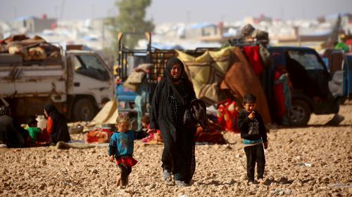 Syrie : avec des femmes et des enfants de jihadistes français, réfugiés dans un camp au nord de Raqqa