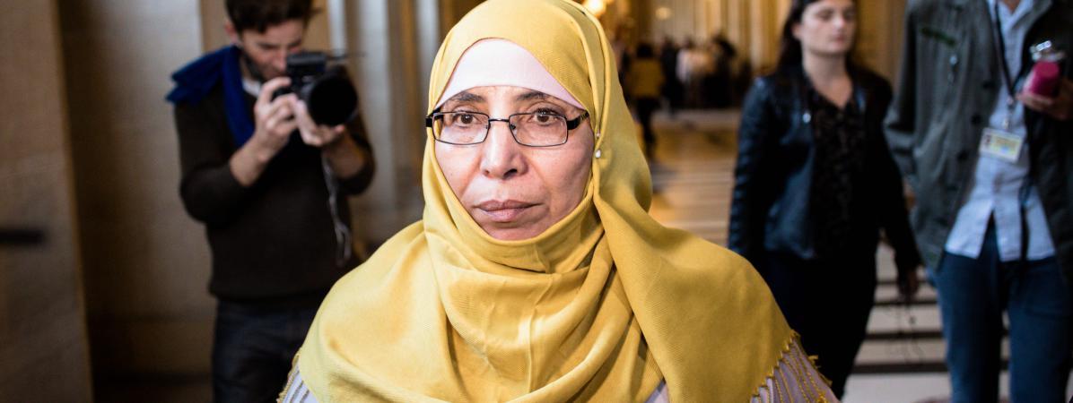 La mère de la fratrie Merah, Zoulikha Aziri,au palais de justice de Paris, le 18 octobre 2017.
