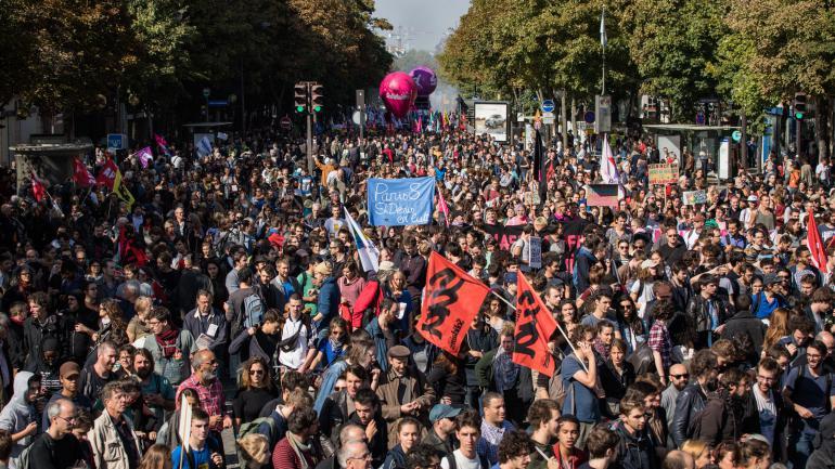 Manifestation contre la réforme du Code du travail à Paris, le 21 septembre 2017.