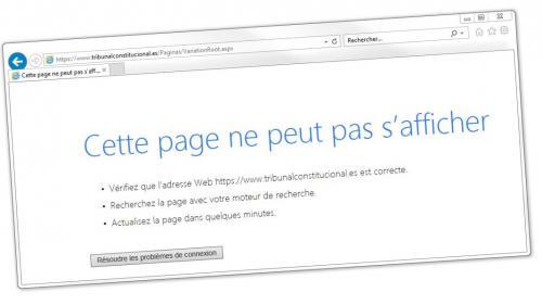 Catalogne : le site de la cour constitutionnelle espagnole paralysé par une attaque informatique