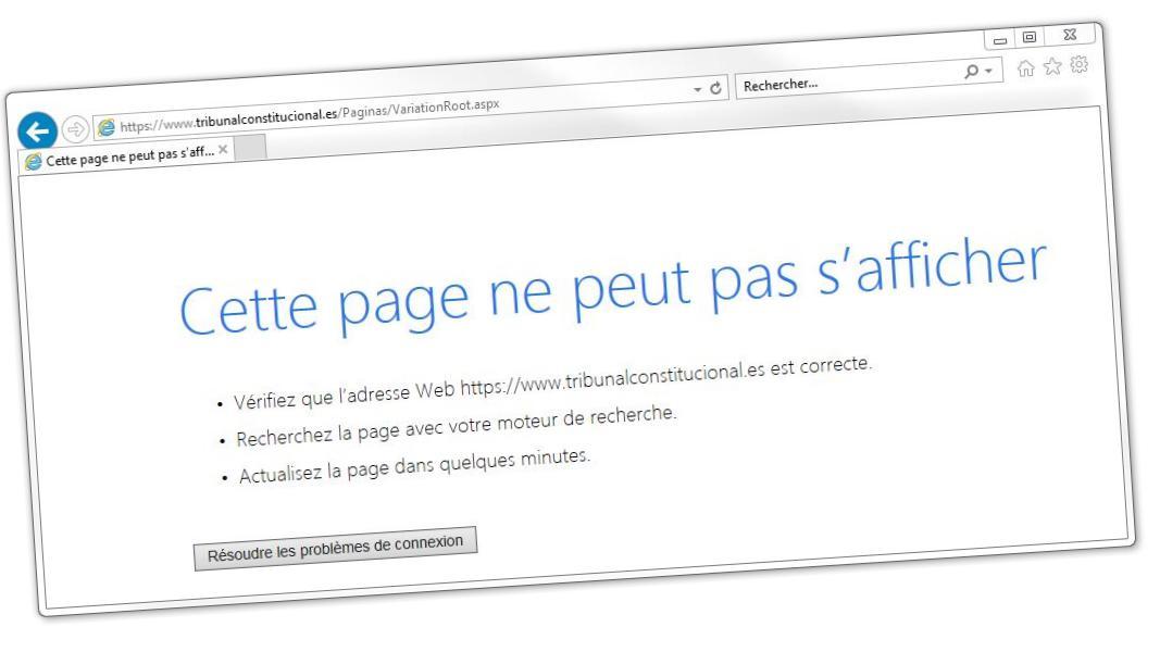 Catalogne Le Site De La Cour Constitutionnelle Espagnole Paralyse
