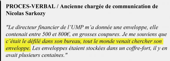 Extrait du procès-verbal de l\'ancienne chargée de communication de Nicolas Sarkozy.